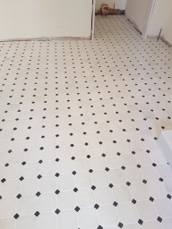 Marble Mosaic Floor Tiling, Montys Court.