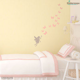 Fairy and butterflies wall sticker