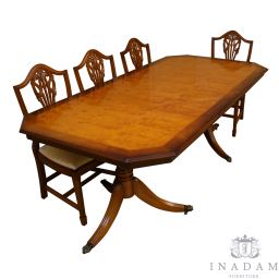 Reproduction Yew and Mahogany Dining Furniture
