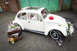 Buttercup Bus - white wedding car vw beetle hire