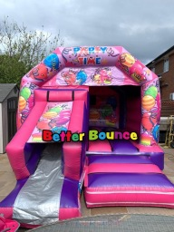 Pink Party Time Slide Combo Bouncer 15ft x 17ft