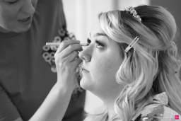 Bridal Prep on her Wedding Day