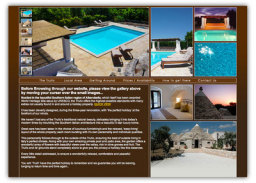 Excellent Image led marketing make up this spectacular website for a South Italian Holiday home. www.trulliitalian.com