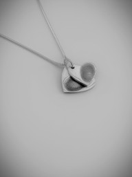Double Heart Fingerprint Charm