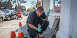 Picture Of Jonny Clearing a Blocked Drain