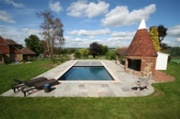 SPATA Gold Award winning outdoor pool with safety cover
