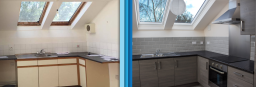 Kitchen - Before and After - Recent Refurbishment