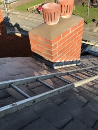 Chimney re-pointed and flaunched
