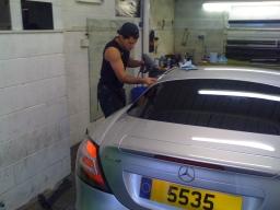mercedes mclaren car window tinting