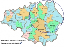 Area covered by Pennine Estates. We also cover bordering West Yorkshire