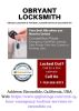 Obryant Locksmith | Locksmith Escondido CA