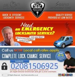 Anytime Locksmiths | Emergency Locksmith Services