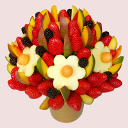 Mango and  Berries Fruit Bouquet