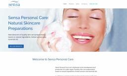 Website for Sensa Personal Care