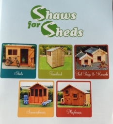 we are now agents for  - Shaws for Sheds