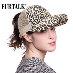 FURTALK-Dropshipping-Leopard-Ponytail-Baseball-Cap
