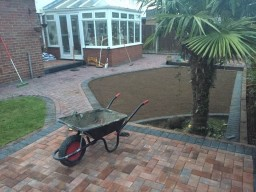 New Patio Being Installed in Raleigh, Essex