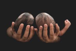 twin newborn babies