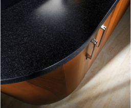 Beautiful work tops with curved doors