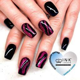 Priya glitter design nails