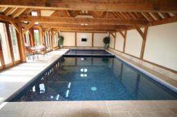 SPATA Gold Award winning indoor pool with English Heritage Oak building