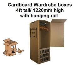 Cardboard wardrobe box