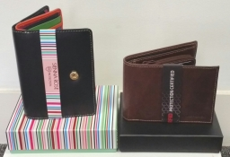 Men's RFID protected leather wallets