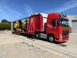 Covered Machine Transport Potteries Heavy Haulage