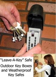 Leave-a-key safe - outdoor key box, key safe