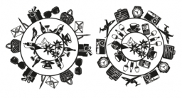 Swissôtel Circle graphics (female and male versions)