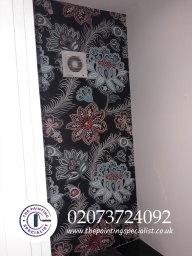 Vintage Looking Wallpaper Hanged London