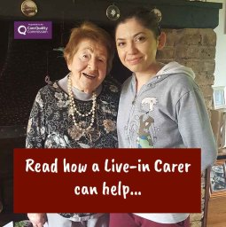 Rose with her live-in carer