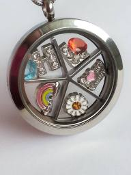Floating Locket Charms and Charm Divider
