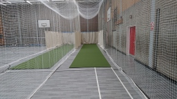 sports hall cricket nets and mats