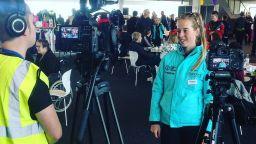 Crosscut Media filming Alice Barnes GB Athelete