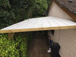 Lightweight Opaque Tile Carport.