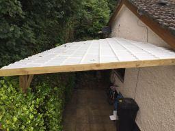 Lightweight Opaque Tile Carport.