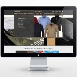 Republic Union custom website redesign layout