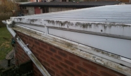 Conservatory cleaning Nottingham , before image .