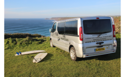 The Pirate Bus. Surfing, Cornwall.