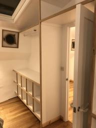 Dutch barge bedroom wardrobes and storage
