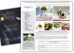 Award wining Website for a leading catering company. www.magpiecatering.com