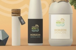 Horizon Skincare Brand Logo and Packaging Design Front view