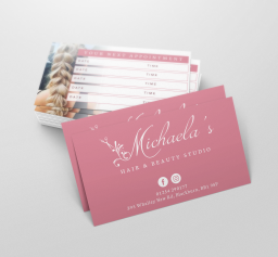 Michaela's Hair & Beauty Studio Business Cards