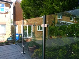 decking with glass