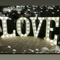 Our 3d love letters £125 to hire