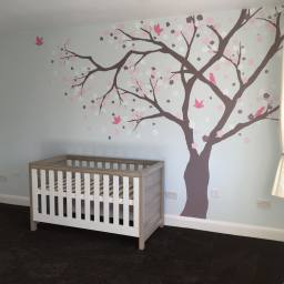 Cherry blossom tree - nursery room decor