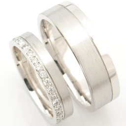 Platinum Matching Pair Of Wedding Rings