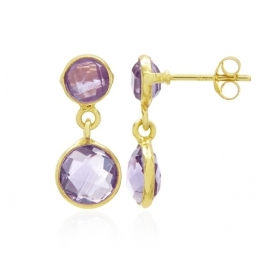 Amethyst Drop Earrings by Rodgers & Rodgers