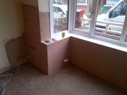 with boards on and skimmed